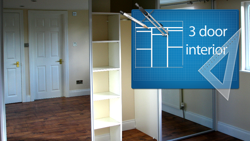 3 Door sliding wardrobe package