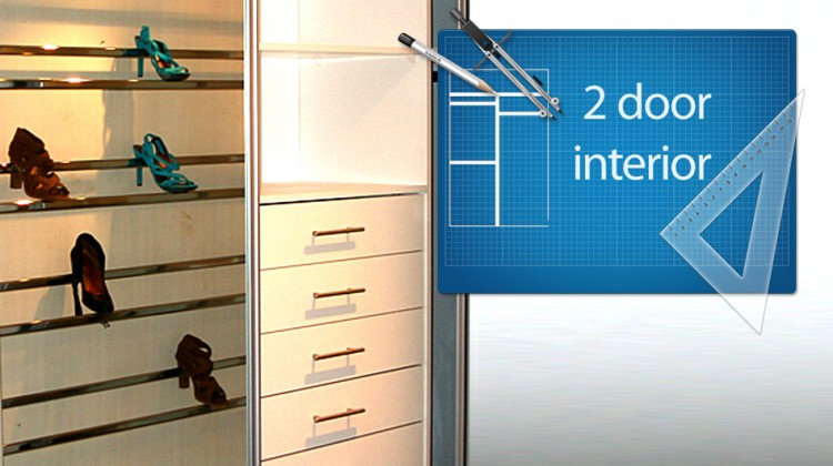 2 Door sliding wardrobe package